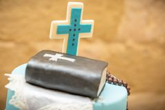 Holy Communion Cake Malta stock photo