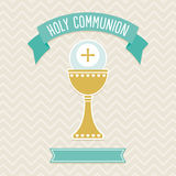 Holy Communion card template Stock Images