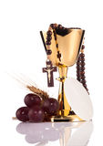 Holy communion. Chalice composition isolated on white stock photography