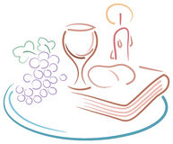 Holy communion drawing Stock Images