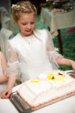 Holy communion girl portrait Royalty Free Stock Photography
