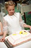 Holy communion girl portrait royalty free stock photography