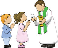 Holy communion royalty free illustration