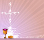 Holy Communion. Invitation background.vector Royalty Free Stock Images