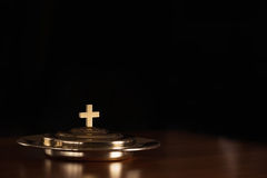 Holy Communion. Service/LORD's Supper Stock Image