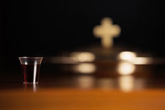 Holy Communion. Service/LORD's Supper Royalty Free Stock Photo