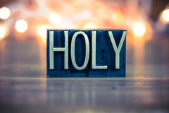 Holy Concept Metal Letterpress Type Royalty Free Stock Photo