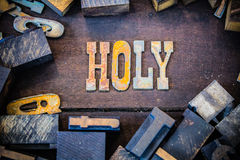 Holy Concept Rusty Type Royalty Free Stock Photography