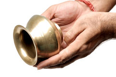 Holy copper vessel Royalty Free Stock Images