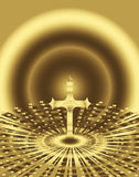 Holy cross. Illustration of a religious cross Royalty Free Stock Image
