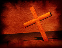 Holy Cross. With old yellow paper 2D computer art Royalty Free Stock Images