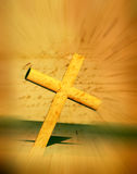 Holy Cross. With old yellow paper 2D computer art Stock Images