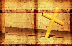 Holy cross. With old yellow paper Royalty Free Stock Photos