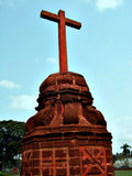 Holy Cross. A holy cross in the church area of old Goa, India Royalty Free Stock Images