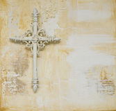 Holy cross. On  painted background, artwork is created and painted by myself Royalty Free Stock Photo