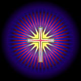Holy cross. The holy cross on stars background royalty free illustration