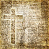 Holy cross on abstract paper background Stock Photo
