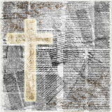 Holy cross on abstract paper background Royalty Free Stock Photography