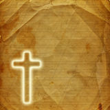 Holy cross on abstract paper background Royalty Free Stock Images