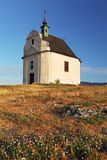 Holy cross baroque chapel on the hill Siva brada - Spis Royalty Free Stock Photos