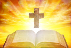 Holy cross and bible Royalty Free Stock Image
