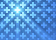 Holy cross blue light background Royalty Free Stock Photo