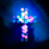 Holy cross bokeh Royalty Free Stock Photography