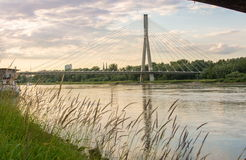 Holy Cross Bridge over Vistula river in Warsaw Poland Stock Images