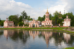 Holy Cross Cathedral on Altufevskoe Street in Moscow Royalty Free Stock Photo