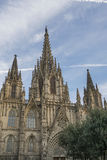 Holy Cross Cathedral in Gothic Quarter of Barcelona in Spain. Royalty Free Stock Photo