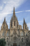 Holy Cross Cathedral in Gothic Quarter of Barcelona in Spain. Stock Photography