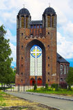 Holy cross Cathedral in Kaliningrad. In the old German Lutheran Church Stock Images