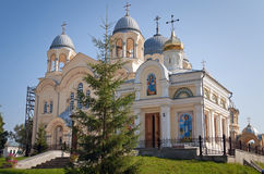 Holy Cross Cathedral Man's Piously-Nikolaev monastery Stock Photo