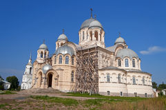 Holy Cross Cathedral Man's Piously-Nikolaev monastery Royalty Free Stock Photography