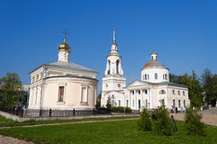 Holy Cross Cathedral Man's Piously-Nikolaev monastery Royalty Free Stock Images