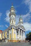 Holy Cross Cathedral in Uzhhorod, Ukraine Stock Image