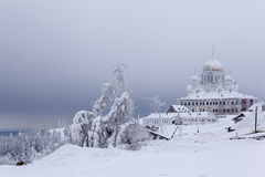 Holy Cross Cathedral of White Mountain. Perm region. Belogorskiy monastery. Royalty Free Stock Images