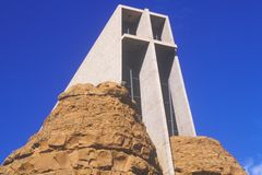 Holy Cross Catholic Chapel, inspired by Frank L. Wright in Sedona Arizona Stock Photos