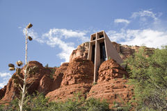 Holy Cross Chapel of Sedona stock photo