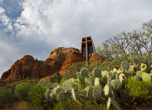 Holy Cross Chapel of Sedona Royalty Free Stock Photos