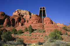 Holy Cross Chapel, Sedona, Arizona, USA Royalty Free Stock Images