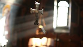The holy cross in the christian church stock footage