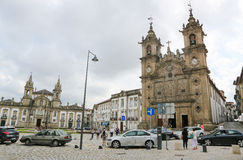 Holy Cross Church in Braga Royalty Free Stock Photos