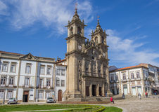 Holy cross church in the center of Braga Stock Photography