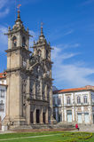 Holy cross church in the center of Braga Royalty Free Stock Photography