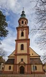 Holy Cross church (circa XVII c.). Offenburg, Germany Stock Photos
