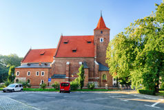 Holy cross church in Krakow near national theater Stock Images