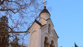 Holy Cross Church in Livadia. Bell tower stock footage