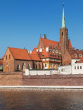 Holy Cross Church from the Oder Royalty Free Stock Photos
