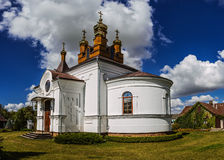 Holy Cross Church in town Vysokaye Royalty Free Stock Photo